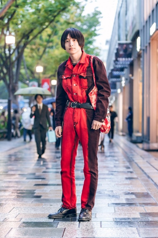Roter Outfit Männer Trends Modetrends Street Fashion