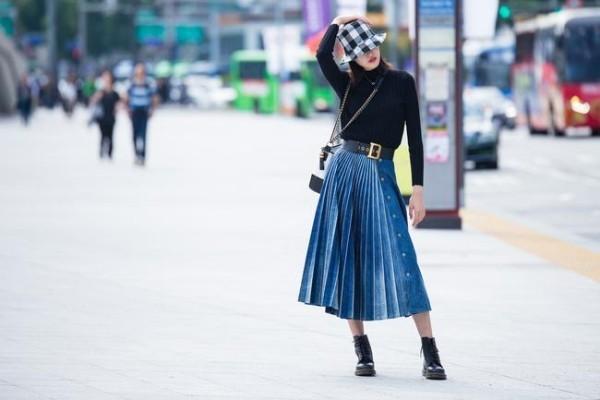 Μόδας της οδού Μπλε και μαύρο - μεγάλη ιδέα