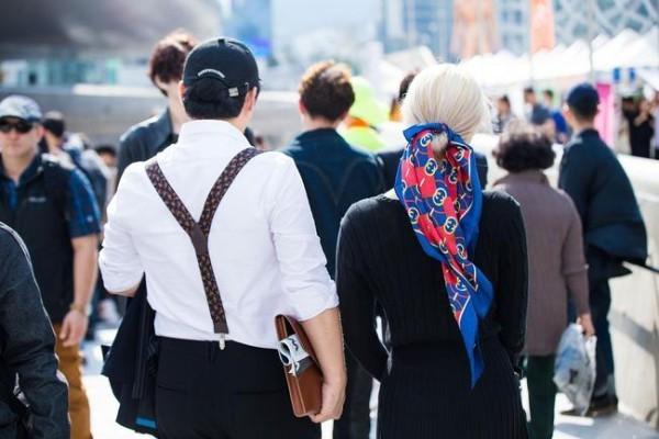 Μόδα της οδού Seoul μόδας εβδομάδα μόδας