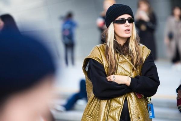 Οδική μόδα - χρυσή Ναι cke - Seoul Fashion Seo