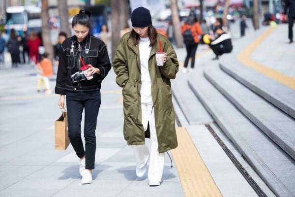 Verschiedene Farben für die Hose Trends Street fashion