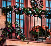Weihnachtsdeko für Balkon bringt festliche Stimmung mit
