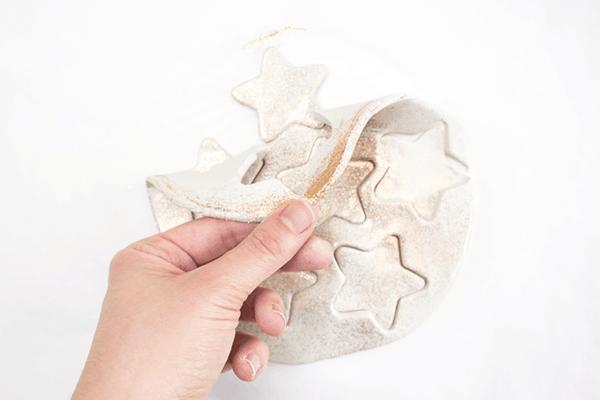 Weihnachtssterne basteln Fimo Ideen DIY Polymer Ton Sterne