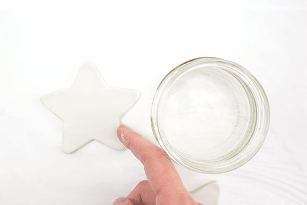Weihnachtssterne basteln Fimo Ideen DIY Polymer Ton Wasser
