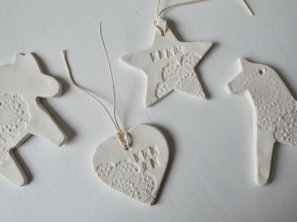 Weihnachtssterne basteln Fimo Ideen DIY Weihnachtsdeko Ausstechformen