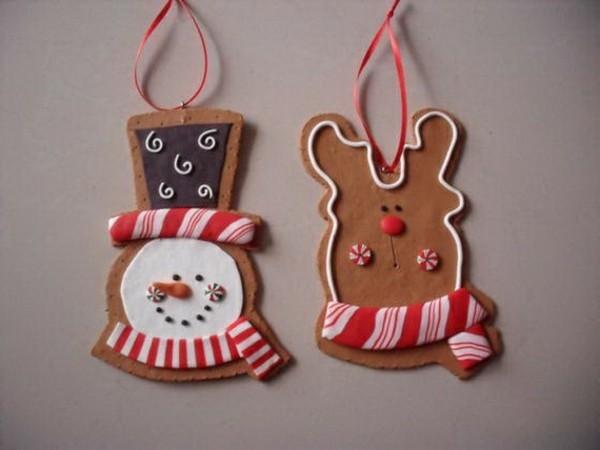 Weihnachtssterne basteln Fimo Ideen Lebkuchen Weihnachtsdeko selber machen