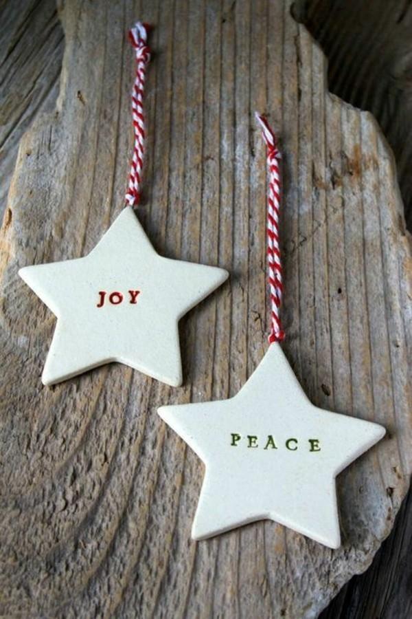 Weihnachtssterne basteln Fimo Ideen Weihnachtsdeko Buchstaben