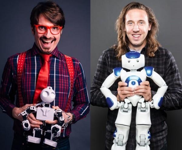 Wie Künstliche Intelligenz die Künste revolutioniert komiker und forscher mit robotern