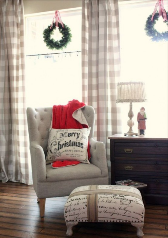Winterdeko im Wohnzimmer das Weihnachtsfest ist gar nicht so weit