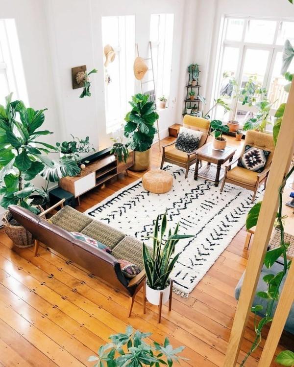aktuelle Wohntrends 2020 Natur Zimmerpflanzen