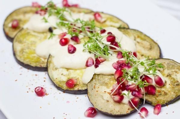 auberginen granatapfel rezept