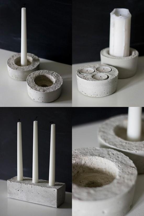 beton deko kerzenständer selber machen