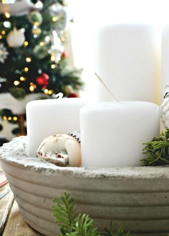 beton deko weihnachtsbasteln kerzenschale selber machen