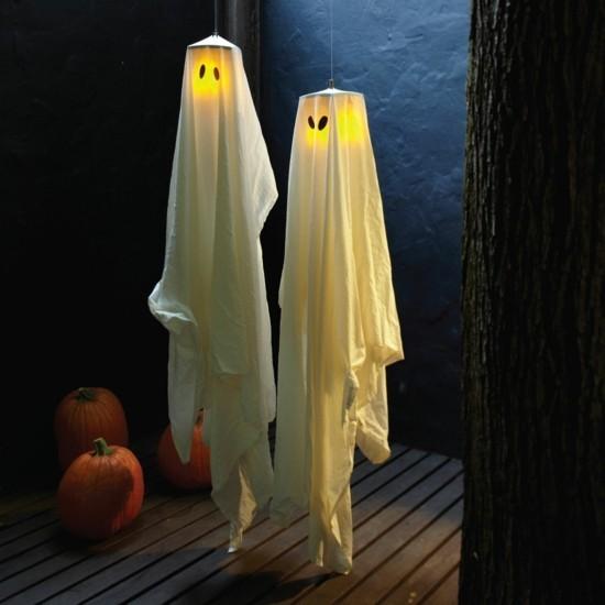bettlacken laternen halloween gespenster basteln