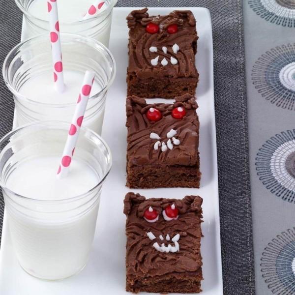brownie milch last minute halloween ideen snacks