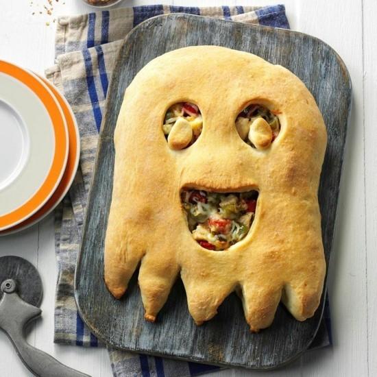 calzone pizza belag ideen halloween geister