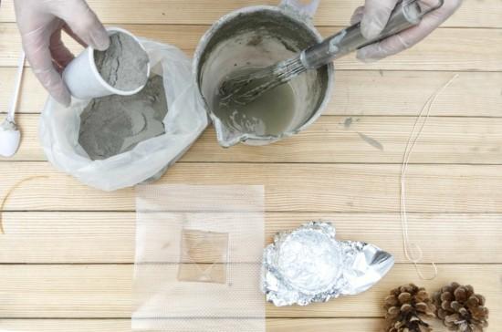 diy anleitung für beton deko mit zapfen
