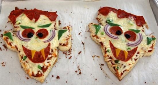 dracula mini pizza belag ideen zu halloween