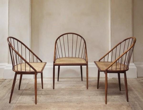 drei wunderschöne stühle - wiener geflecht