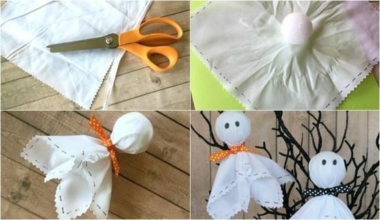 einfache gespenster basteln deko ideen zu halloween