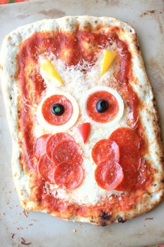 eule pizza belag ideen zu halloween