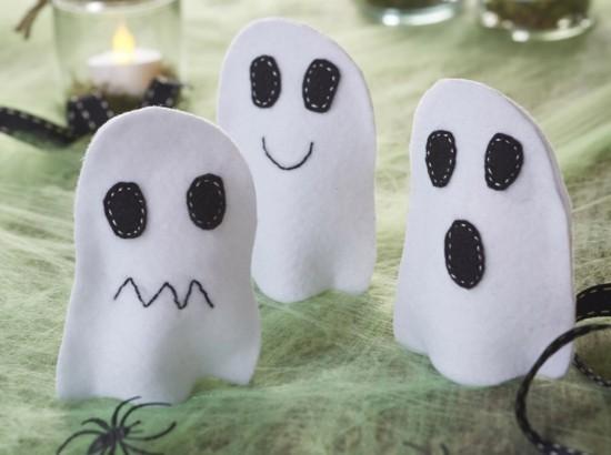 fingerpuppen halloween gespenster basteln aus filz