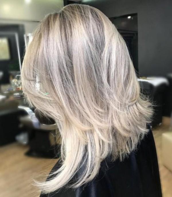 frisuren für dünne haare - Haare bis zu den Schultern