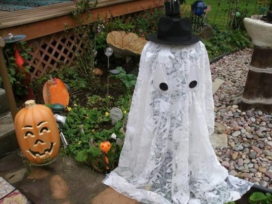 gartendeko halloween gespenster basteln