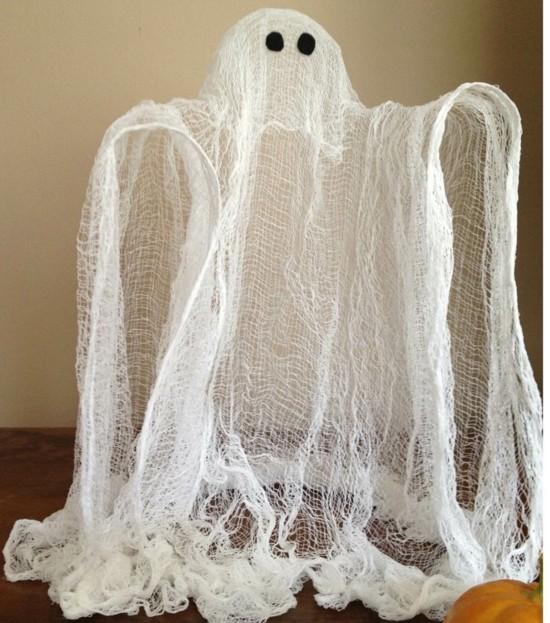 gespenster basteln aus seihtuch halloween deko selber machen