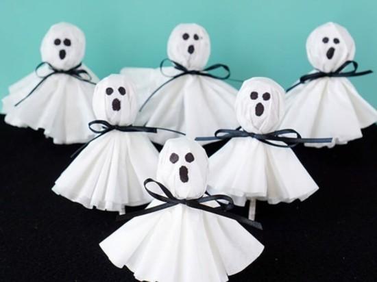 gespenster basteln halloween deko kinder