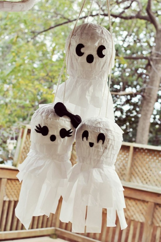gespenster basteln halloween pinata party