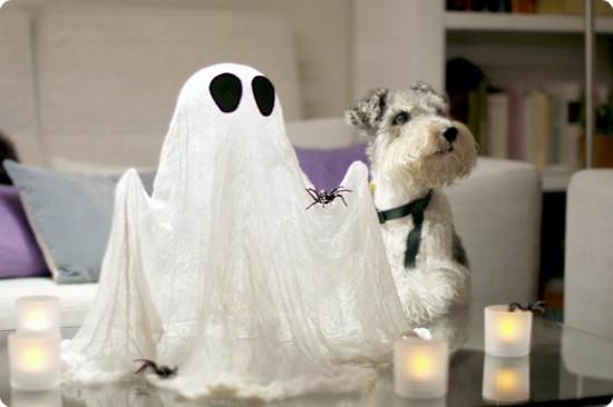 gespenster basteln halloween tischdeko idee
