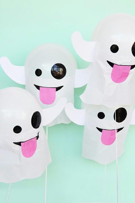 gespenster basteln mit kindern aus papier