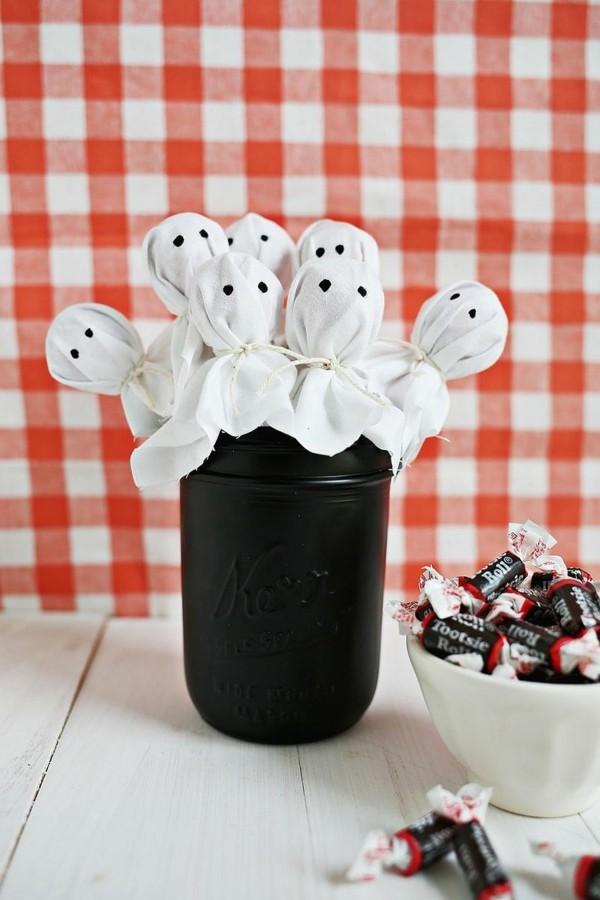 gespenster lollipops basteln halloween ideen