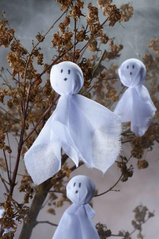 geister basteln zu halloween