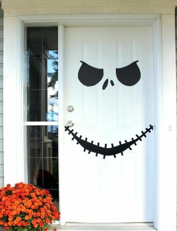 halloween deko ideen eingangstür dekorieren