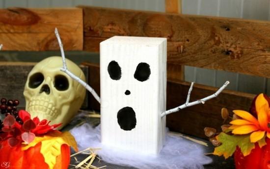 halloween gespenster basteln aus holz