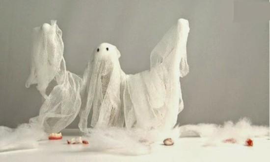 halloween gespenster basteln aus seihtuch