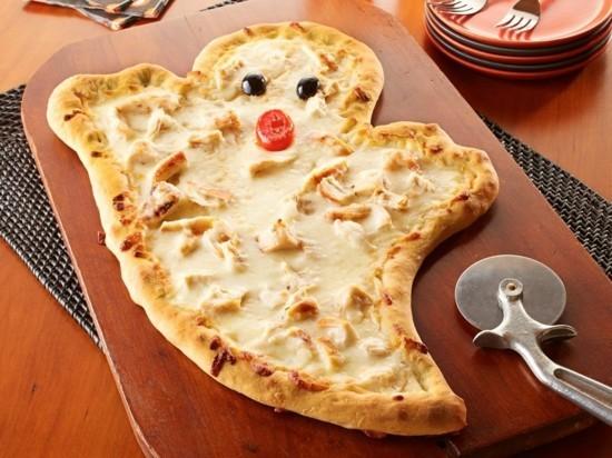 halloween gespenster pizza belag ideen