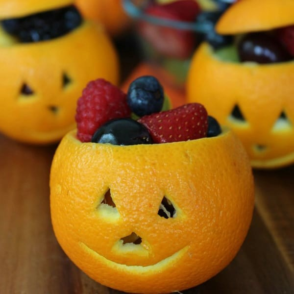 halloween ideen jack o laternen aus orangen