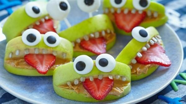 halloween ideen monster snacks gesund