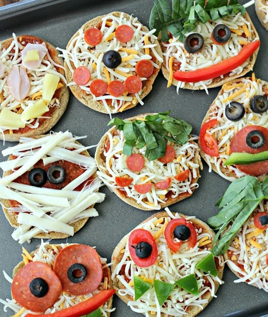 halloween pizza belag ideen für kinder