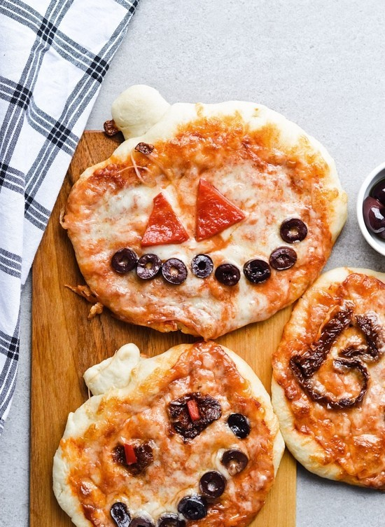 kürbis pizza belag ideen zu halloween