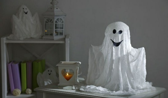 kreative halloween deko gespenster basteln