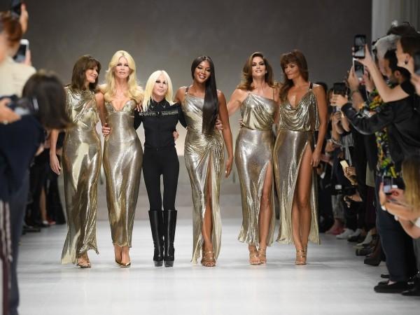mailand fashion week gold und schwarz