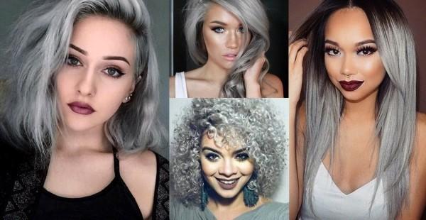 moderne Looks Haare grau färben