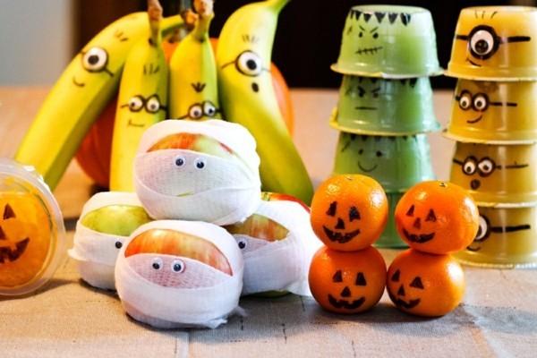 obst halloween ideen last minute
