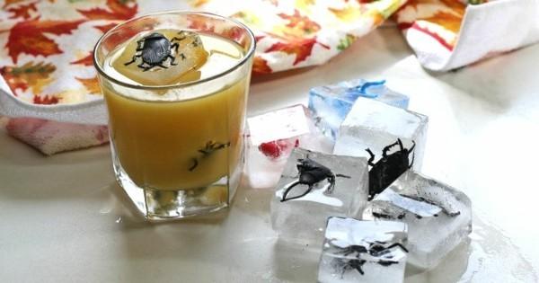 originelle halloween ideen mit plastikinsekten