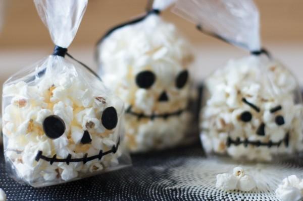 popcorn tüten last minute halloween ideen
