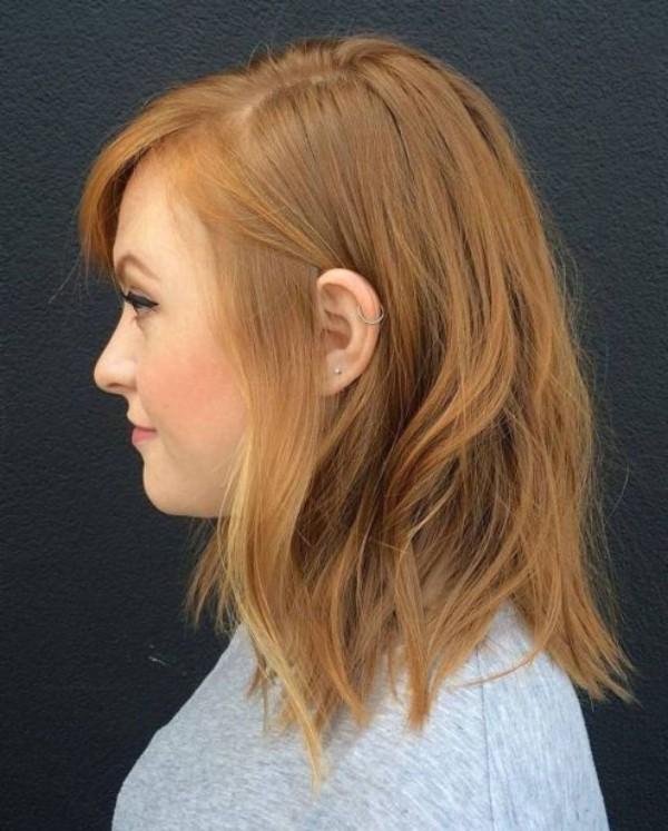 rötliche längliche Haare - frisuren für dünne haare